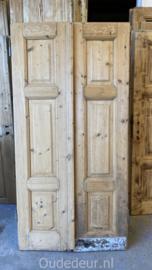 nr. set 375  geloogde lage antieke deuren