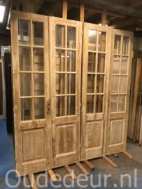 nr. set834 serie van drie gelijke sets antieke ruitjesdeuren