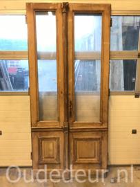 nr. set795 stel antieke glasdeuren