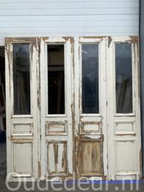 nr. set595 4-slag antieke glasdeuren