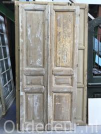 nr. set808 stel oude deuren half geloogd