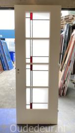 nr. GL586 glas in lood deur met melkglas
