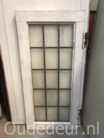 nr. GL394 kleine glas in lood raam mat 2 stuks
