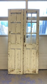 nr. set414 antieke deuren met 6 ruitjes