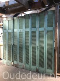 nr. L531 serie van 8 oude louvre deuren