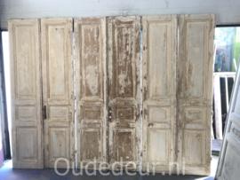 nr. set999 drie gelijke sets oude deuren