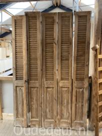nr. L59 8 stuks oude louvre deuren