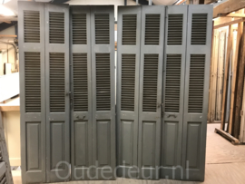 nr. L80 serie van 8 oude louvre deuren
