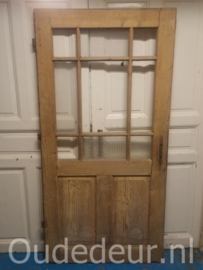 nr. 1302 oude glasdeur bijna kaal