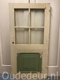 nr. 233C antieke deur met 4 ruitjes