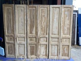 nr. set620 zes gelijke sets antieke deuren geloogd