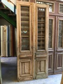 nr. set647 set geloogde oude voordeuren met staal