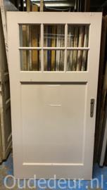 nr. 1412 brede deur met 6 glaasjes
