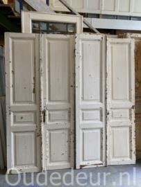 nr. set568 twee sets antieke witte deuren