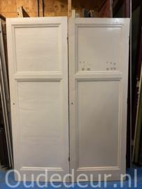 nr. 1036c twee oude kastdeuren met ruwe zijde