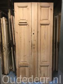 nr. set844 setje smalle hoge deuren zonder verf