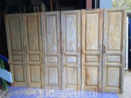 nr. set630 4 sets antieke deuren half geloogd