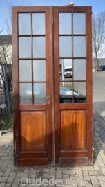 nr. set413 set antieke deuren met glas