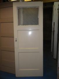 nr.4a drievlaks deuren jaren dertig met glas (meerdere stuks)