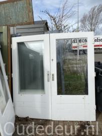 nr. a193 brede buitendeuren hardhout enkelglas