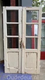 nr. set544 set oude deuren met glas