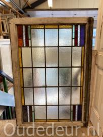 nr. gl503  oude glas in lood raam