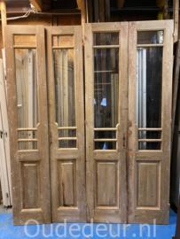 nr. set509 serie oude glasdeuren kaal gemaakt