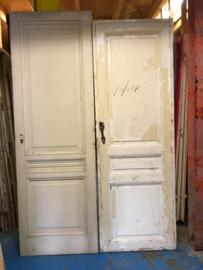 nr. 91 antieke deuren drie vakken, meerdere stuks.