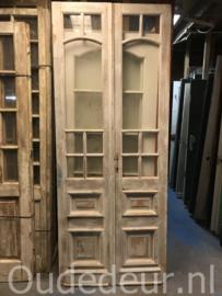 nr. set829 setje oude deuren met glas