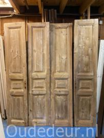 nr. set521 4 sets oude deuren kaal gemaakt