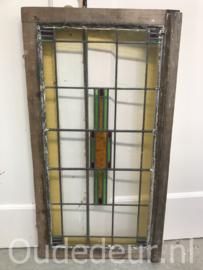 nr. GL390 oude glas in lood raam