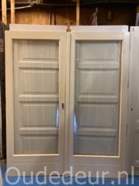 nr. set887 set deuren met blank glas voor binnen