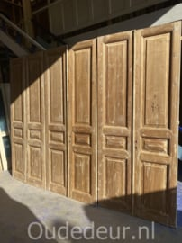 nr. set525a serie van 3 gelijke sets antieke geloogde deuren