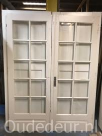 nr. set723 twee jaren 30 ruitjes deuren