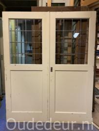 nr. E335 bruynzeel ensuite deuren, glas in lood
