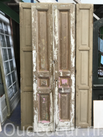 nr. set814 stel half geloogde oude deuren
