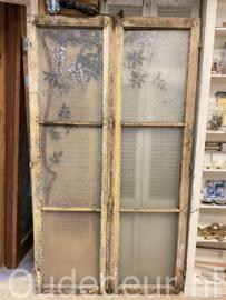 nr.  set416 stel oude beschilderde ramen