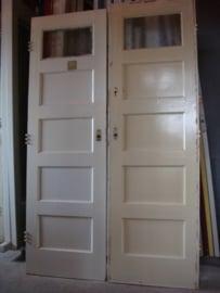 nr. 8a paneeldeur  5 vlaks met ruit bovenin (meerdere stuks)