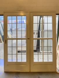 nr. E384 brede ensuite glas in lood deuren