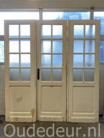 nr. set427 antieke drieslag glas deuren
