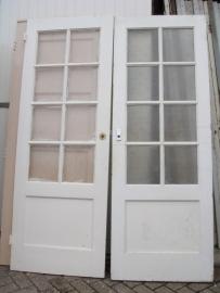 nr. 202 paneeldeur met 8 ruitjes ( meerdere stuks) bruynzeel deur