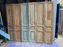 nr. set621 3 setjes antiek deuren half geloogd