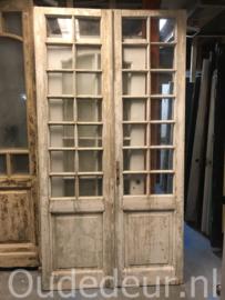 nr. set831 set antieke deuren met ruitjes