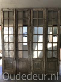 nr. set743 nog een set glasdeuren half geloogd