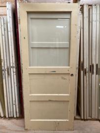 nr. 38a paneeldeur met grote ruit (4 vlaks)