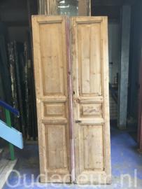 nr. set410 stel oude kale deuren