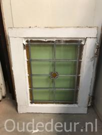 nr. GL402 glas in lood raam antiek