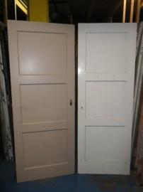 nr. 4 drievlaks deuren jaren dertig Bruynzeel (meerdere stuks)