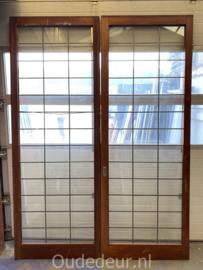 nr. E386 xxl glas in lood ensuite deuren