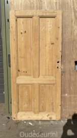 nr. 1432 antieke geloogde deur 4 panelen